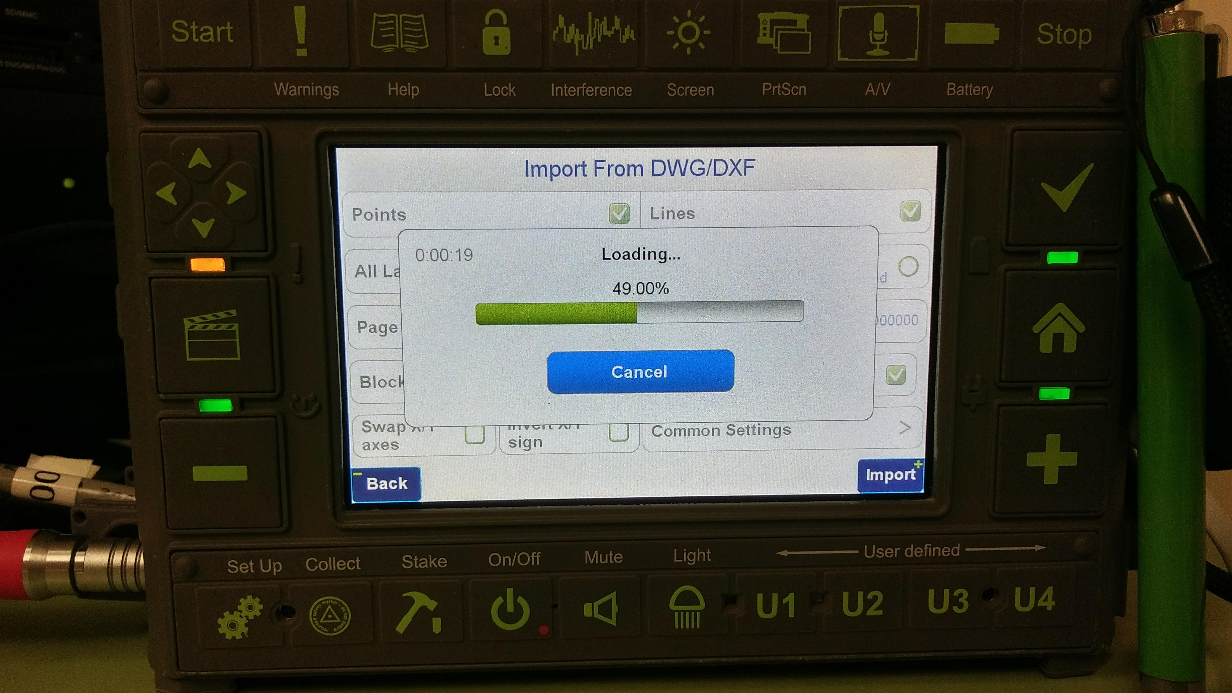 Can no longer import my linework DXF file! | JAVAD GNSS, Inc